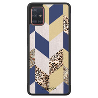 Casimoda Samsung Galaxy A71 hoesje - Blue leo wild