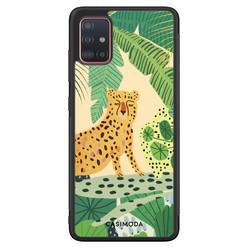 Casimoda Samsung Galaxy A71 hoesje - Jungle luipaard