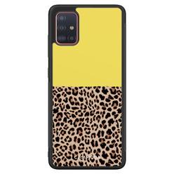 Casimoda Samsung Galaxy A71 hoesje - Luipaard geel
