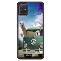 Casimoda Samsung Galaxy A71 hoesje - Lama adventure