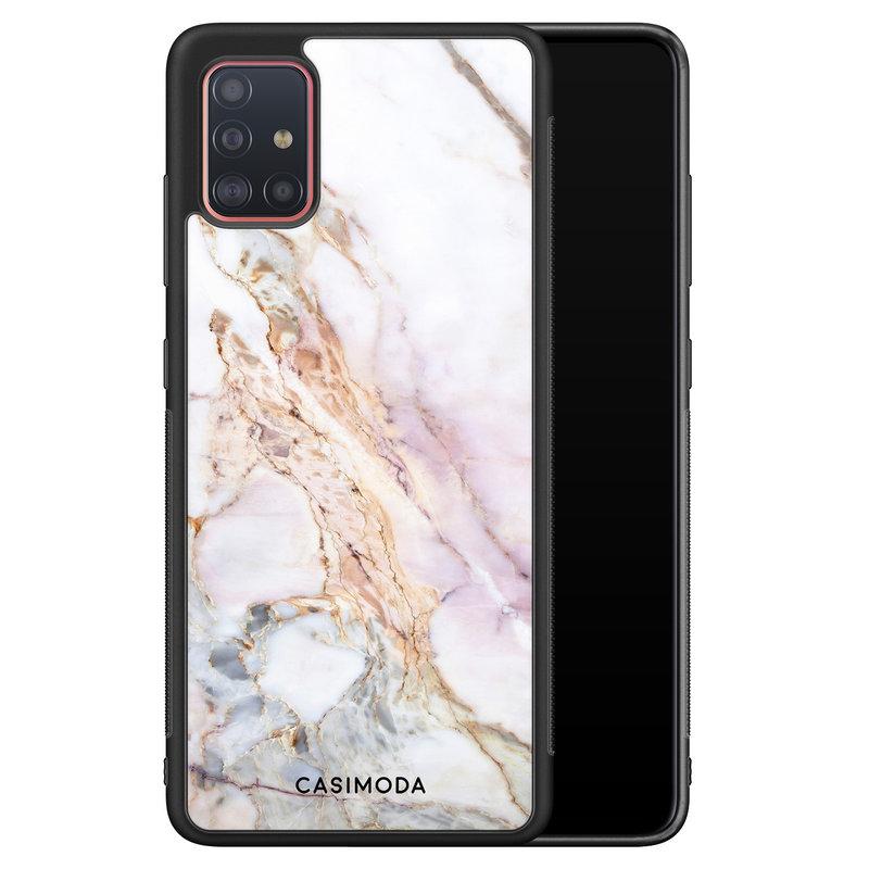 Casimoda Samsung Galaxy A71 hoesje - Parelmoer marmer