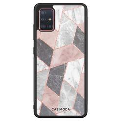 Casimoda Samsung Galaxy A71 hoesje - Stone grid
