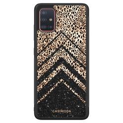 Casimoda Samsung Galaxy A71 hoesje - Chevron luipaard