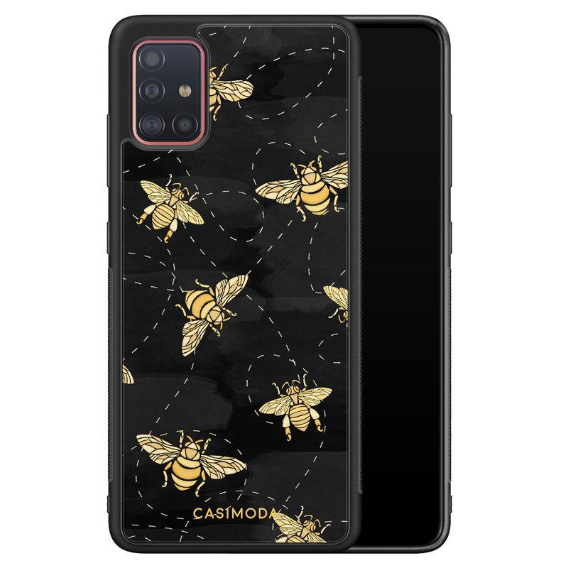 Casimoda Samsung Galaxy A71 hoesje - Bee yourself