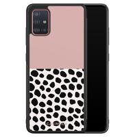 Casimoda Samsung Galaxy A71 hoesje - Pink dots