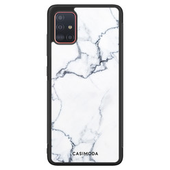 Casimoda Samsung Galaxy A71 hoesje - Marmer grijs