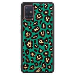 Casimoda Samsung Galaxy A71 hoesje - Luipaard groen