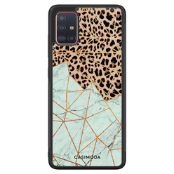Casimoda Samsung Galaxy A71 hoesje - Luipaard marmer mint