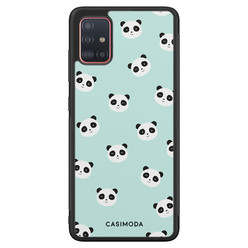 Casimoda Samsung Galaxy A71 hoesje - Panda print