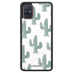 Casimoda Samsung Galaxy A71 hoesje - Cactus print
