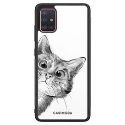 Casimoda Samsung Galaxy A71 hoesje - Peekaboo