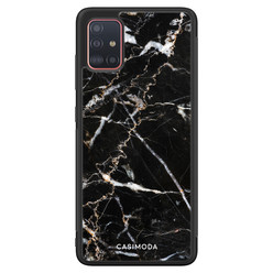 Casimoda Samsung Galaxy A71 hoesje - Marmer zwart