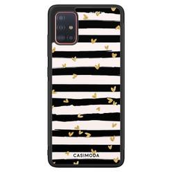 Casimoda Samsung Galaxy A71 hoesje - Hart streepjes