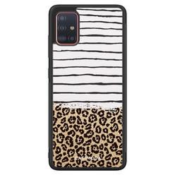 Casimoda Samsung Galaxy A71 hoesje - Leopard lines