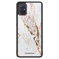 Casimoda Samsung Galaxy A71 hoesje - Marmer goud