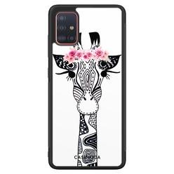 Casimoda Samsung Galaxy A71 hoesje - Giraffe