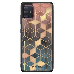Casimoda Samsung Galaxy A71 hoesje - Cubes art