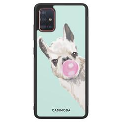Casimoda Samsung Galaxy A71 hoesje - Retro lama