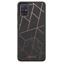 Casimoda Samsung Galaxy A71 hoesje - Marble grid