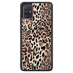 Casimoda Samsung Galaxy A71 hoesje - Golden wildcat