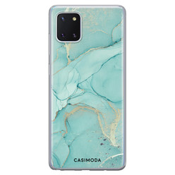 Casimoda Samsung Galaxy Note 10 Lite siliconen hoesje - Touch of mint