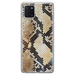 Casimoda Samsung Galaxy Note 10 Lite siliconen hoesje - Golden snake