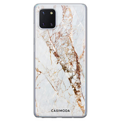 Casimoda Samsung Galaxy Note 10 Lite siliconen hoesje - Marmer goud