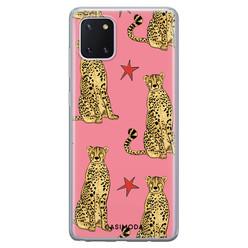 Casimoda Samsung Galaxy Note 10 Lite siliconen hoesje - The pink leopard