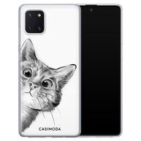 Casimoda Samsung Galaxy Note 10 Lite siliconen hoesje - Peekaboo