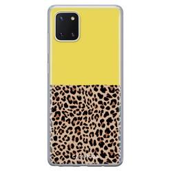 Casimoda Samsung Galaxy Note 10 Lite siliconen hoesje - Luipaard geel