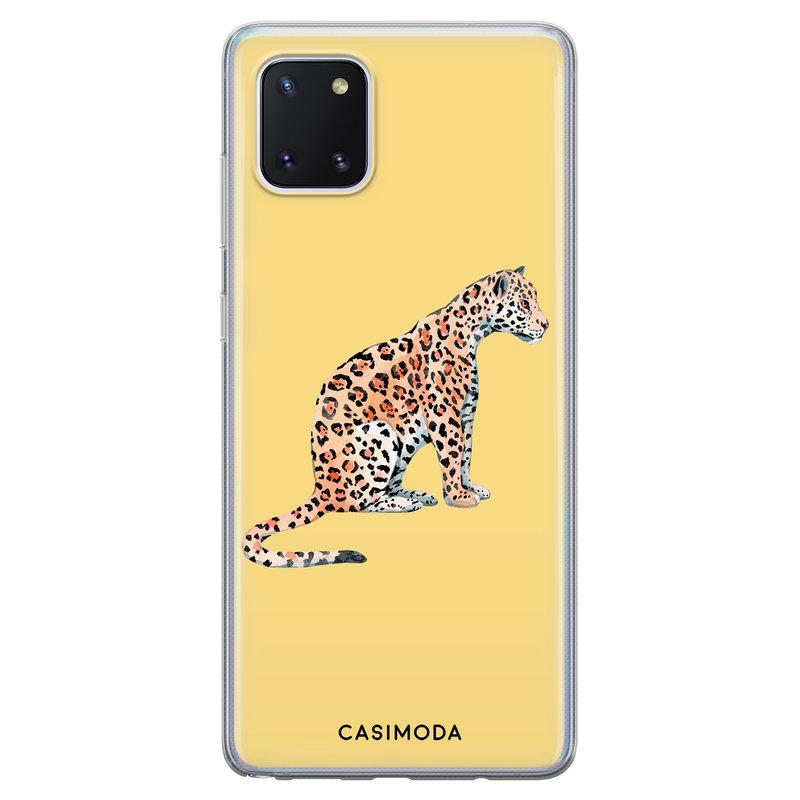 Casimoda Samsung Galaxy Note 10 Lite siliconen hoesje - Leo wild