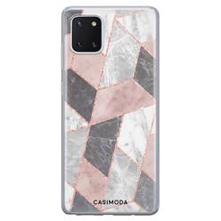 Casimoda Samsung Galaxy Note 10 Lite siliconen hoesje - Stone grid