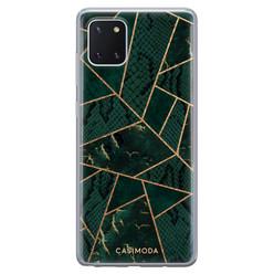 Casimoda Samsung Galaxy Note 10 Lite siliconen hoesje - Abstract groen
