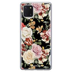 Casimoda Samsung Galaxy Note 10 Lite siliconen hoesje - Flowerpower