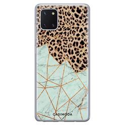 Casimoda Samsung Galaxy Note 10 Lite siliconen hoesje - Luipaard marmer mint