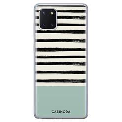Casimoda Samsung Galaxy Note 10 Lite siliconen hoesje - Stripes on stripes