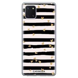 Casimoda Samsung Galaxy Note 10 Lite siliconen hoesje - Hart streepjes