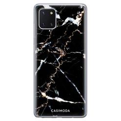 Casimoda Samsung Galaxy Note 10 Lite siliconen hoesje - Marmer zwart
