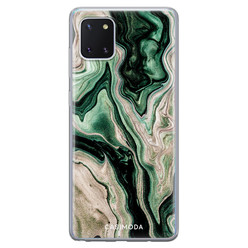 Casimoda Samsung Galaxy Note 10 Lite siliconen hoesje - Green waves