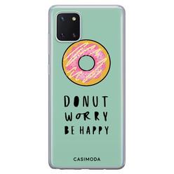 Casimoda Samsung Galaxy Note 10 Lite siliconen hoesje - Donut worry