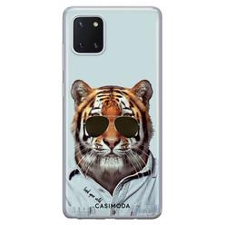 Casimoda Samsung Galaxy Note 10 Lite siliconen hoesje - Tijger wild