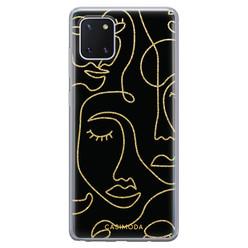 Casimoda Samsung Galaxy Note 10 Lite siliconen hoesje - Abstract faces