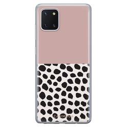 Casimoda Samsung Galaxy Note 10 Lite siliconen hoesje - Pink dots