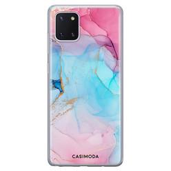 Casimoda Samsung Galaxy Note 10 Lite siliconen hoesje - Marble colorbomb