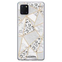 Casimoda Samsung Galaxy Note 10 Lite siliconen hoesje - Stone & leopard print