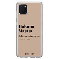 Casimoda Samsung Galaxy Note 10 Lite siliconen hoesje - Hakuna matata