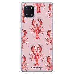 Casimoda Samsung Galaxy Note 10 Lite siliconen hoesje - Lobster all the way