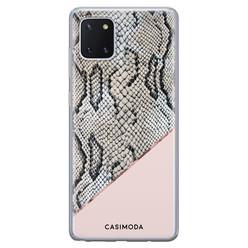 Casimoda Samsung Galaxy Note 10 Lite siliconen hoesje - Snake print