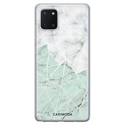Casimoda Samsung Galaxy Note 10 Lite siliconen hoesje - Marmer mint mix