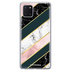 Casimoda Samsung Galaxy Note 10 Lite siliconen hoesje - Marble stripes